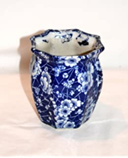 Amazon set of 3 pieces 45 ceramic embossed small white flower new 425 octagon blue white daisy flowers ceramic planter plant pot mightylinksfo
