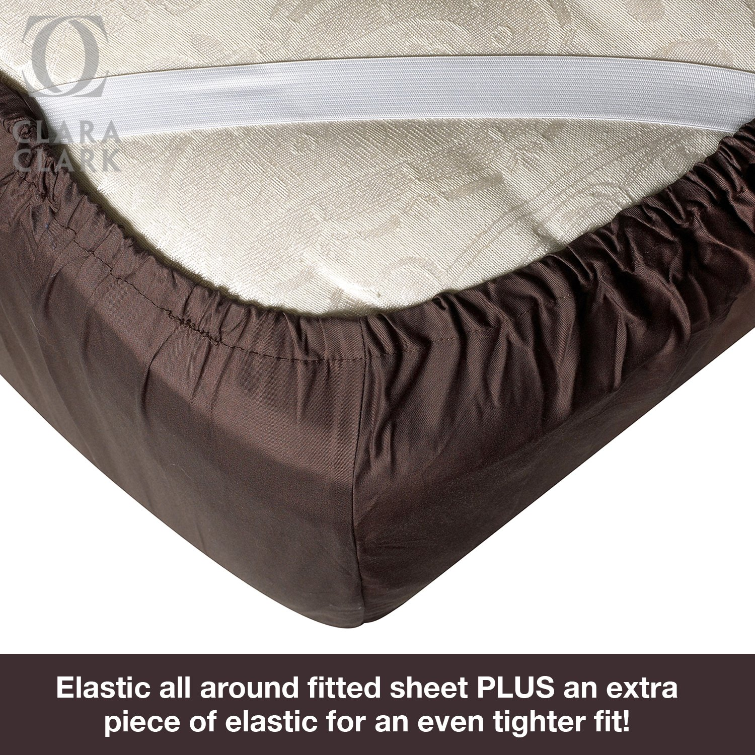 Bamboo Bed Sheet Set Brown Chocolate King Size By