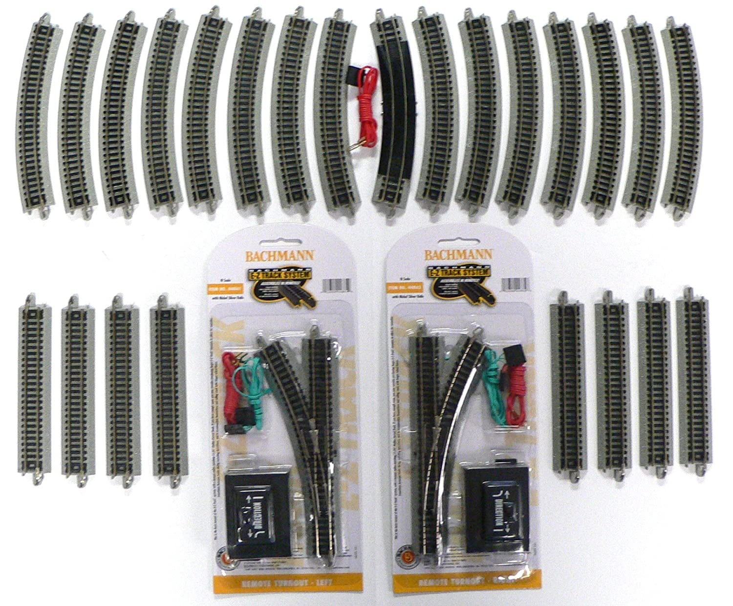 Amazon.com: N Scale Bachmann Nickel Silver EZ Track Pack for Model Railroad  Trains: Toys & Games