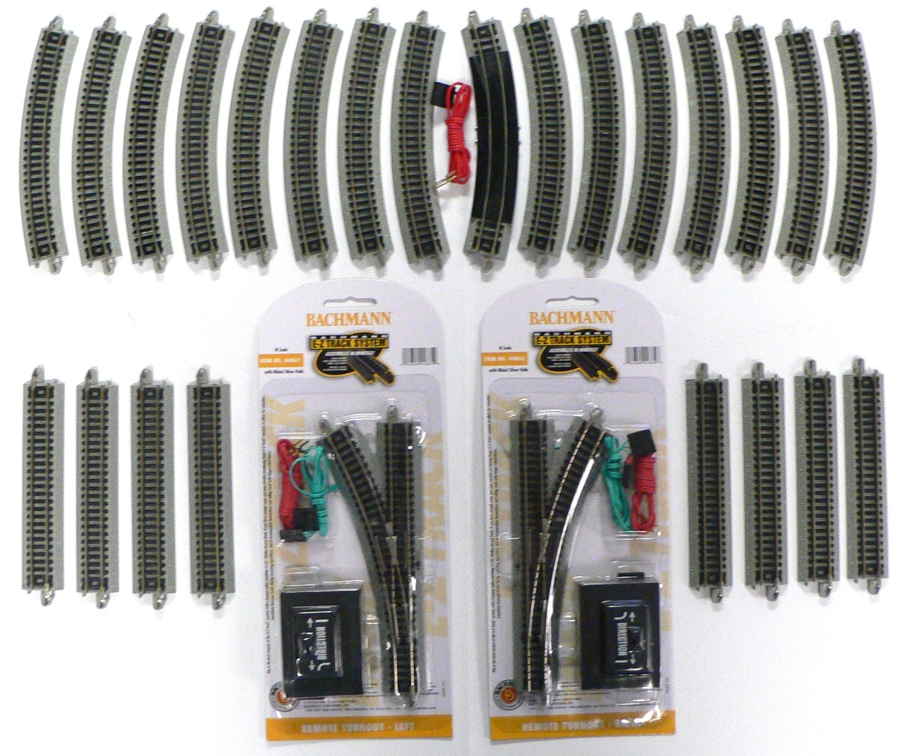 N Scale Bachmann Nickel Silver EZ Track Pack for Model Railroad Trains