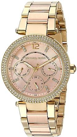 bb5bfa9eadb8 Amazon.com  Michael Kors Women s Mini Parker Rose Gold-Tone Watch MK6477  Michael  Kors  Watches