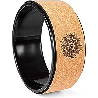 BESTIF Yogawiel van kurk, antislip yoga-wheel stretching, pilates verbetert flexibiliteit en yoga-houdingen