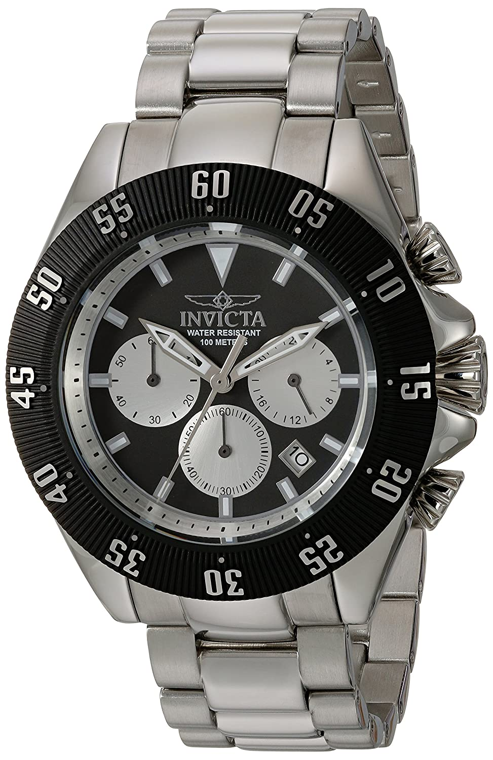 f8711daee Amazon.com: Invicta Men's Speedway Quartz Watch with Stainless-Steel Strap,  Silver, 22 (Model: 22396): Invicta: Watches