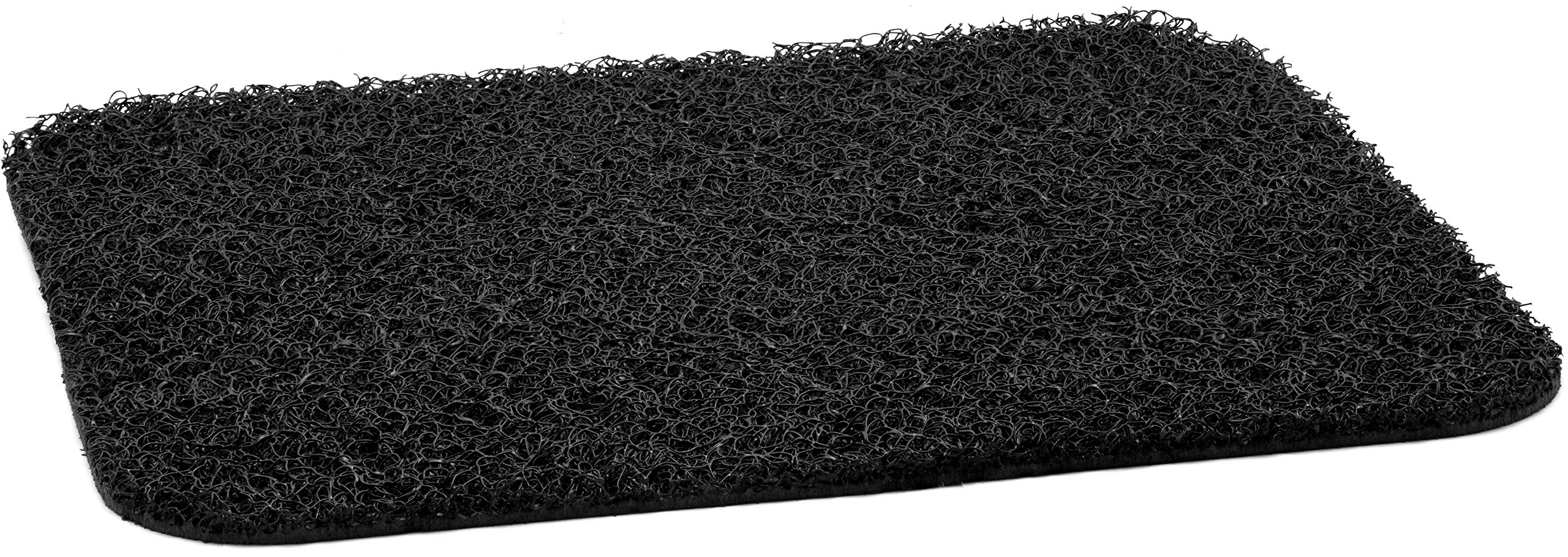 Black 6050 Anti-Vibration mat, Rounded Corners, 18'' x 20''