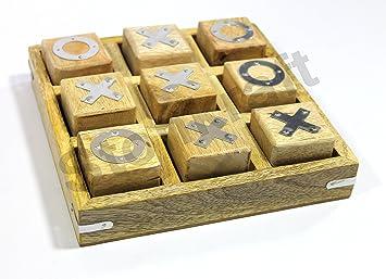 StonKraft Cruces de Madera Tic TAC Toe Juegos de Mesa para niños ...