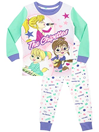 Alvin and the Chipmunks Girls Chipettes Pajamas Size 3T Multicolored