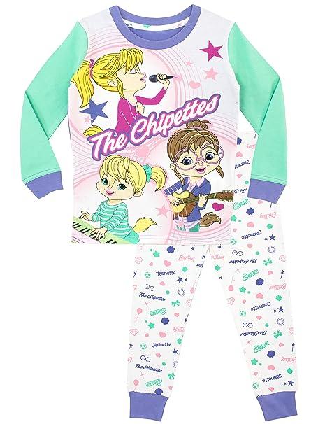 Alvin and the Chipmunks Pijama para niñas Chipettes Ajuste Ceñido Multicolor 2-3 Años