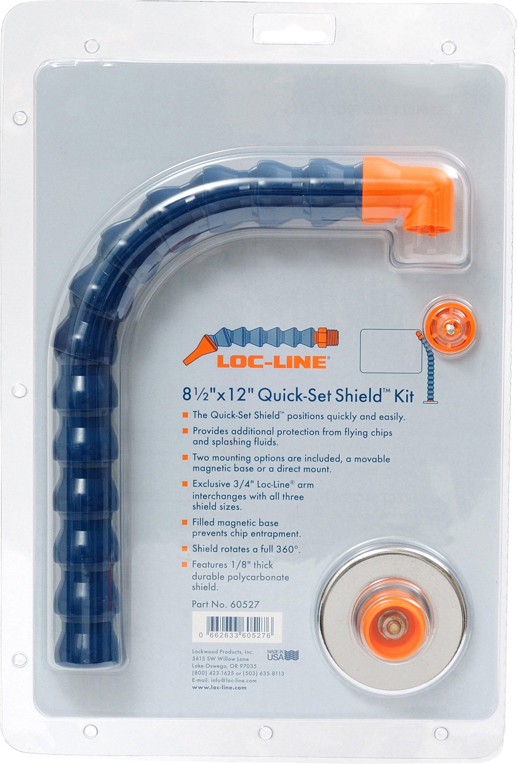 Loc-Line Coolant Hose Accessory, 8-1/2'' x 12'' Quick-Set Large Shield Kit, 3/4'' Hose ID