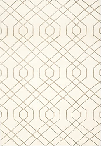 Safavieh Tibetan Collection TB052A Hand-Knotted White Wool Area Rug 10' x 14'