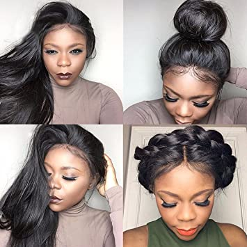 Amazon.com : Yazi Hair Lace Front Wigs for Black Women Straight ...