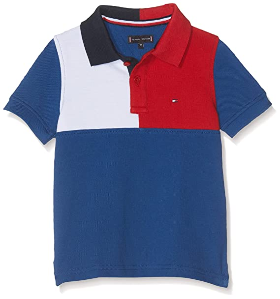 Tommy Hilfiger Colorblock Polo S/s, Azul (Limoges 484), 92 para ...