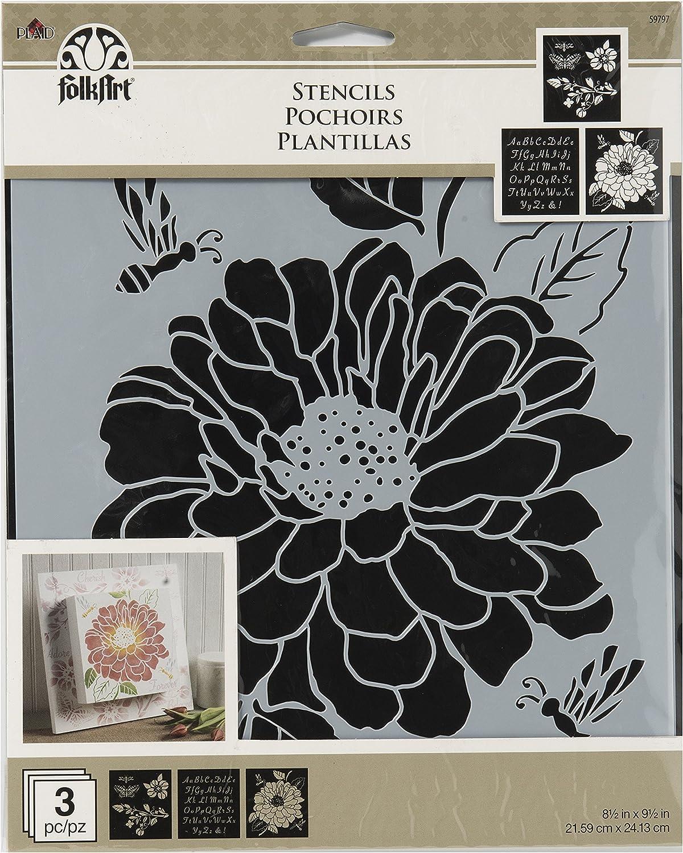 FolkArt Garden Variety Stencil Pack