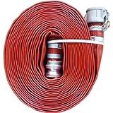 JGB Enterprises A008-0321-0100 Eagle Red PVC Discharge Hose, 2' x 100', Aluminum Type C and E Cam Locks, 150 psi Working…