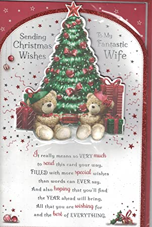 Wife christmas card to my very special wife merry christmas wife christmas card to my very special wife merry christmas santa bear christmas m4hsunfo