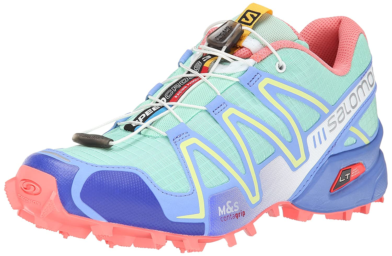Salomon Women's Speedcross 3 Trail Running Shoe B00KWK8MHG 6 B(M) US|Lucite Green/Petunia Blue/Melon Bloom
