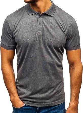 BOLF Hombre Camiseta de Manga Corta Polo Básica Unicolor Ajustada Slim Fit 3C3: Amazon.es: Ropa y accesorios