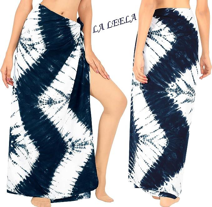 LA LEELA Envoltura Resortwear Encubrir Sarong Pareo Las Mujeres Ropa de Playa Traje de ba/ño Traje de ba/ño de m/últiples