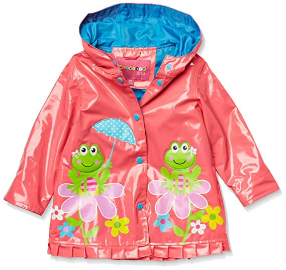 6b5801a9907 Wippette Girls' Shiny Frog On Flower Rain Jacket Knockout Pink, 8 ...