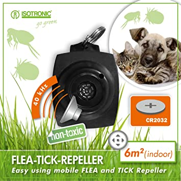 ISOTRONIC Tick Free No Chemical Ultrasonic Flea Repellant Repeller