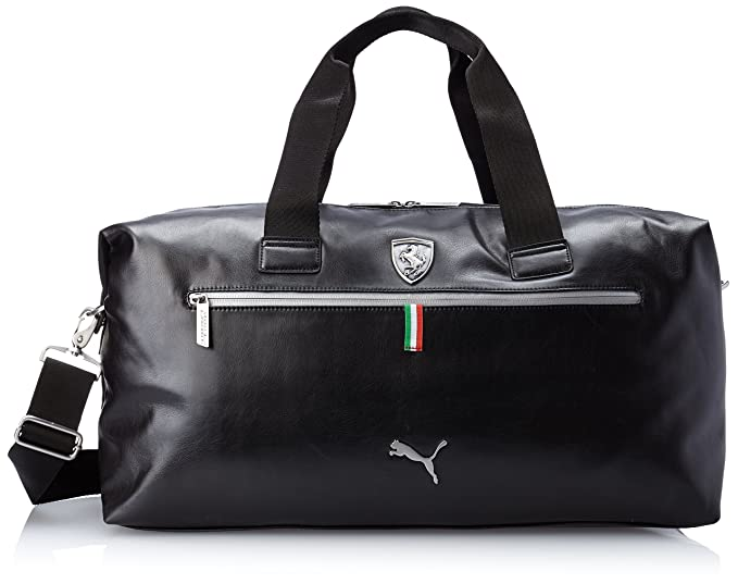 Amazon.com  PUMA Men s Ferrari Long Sleeve Weekender Bag, Black, One ... 46b555bd23