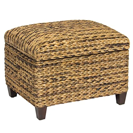 Bon Best Choice Products Hand Woven Seagrass Storage Ottoman Home Furniture