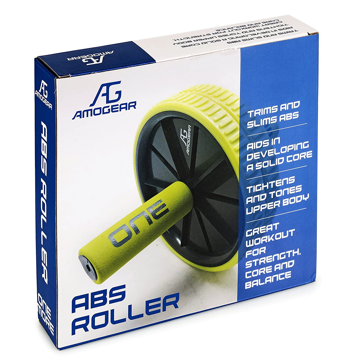 Amogear AB Roller is perfect for Strength Training /& Other Core Exercises