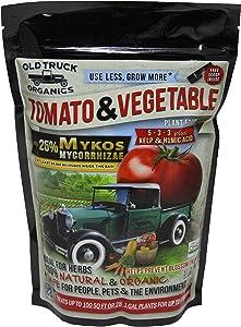 Tomato & Vegetable 5-3-3 Organic Fertilizer with MYKOS Mycorrhizae, 2.2 Pound Bag