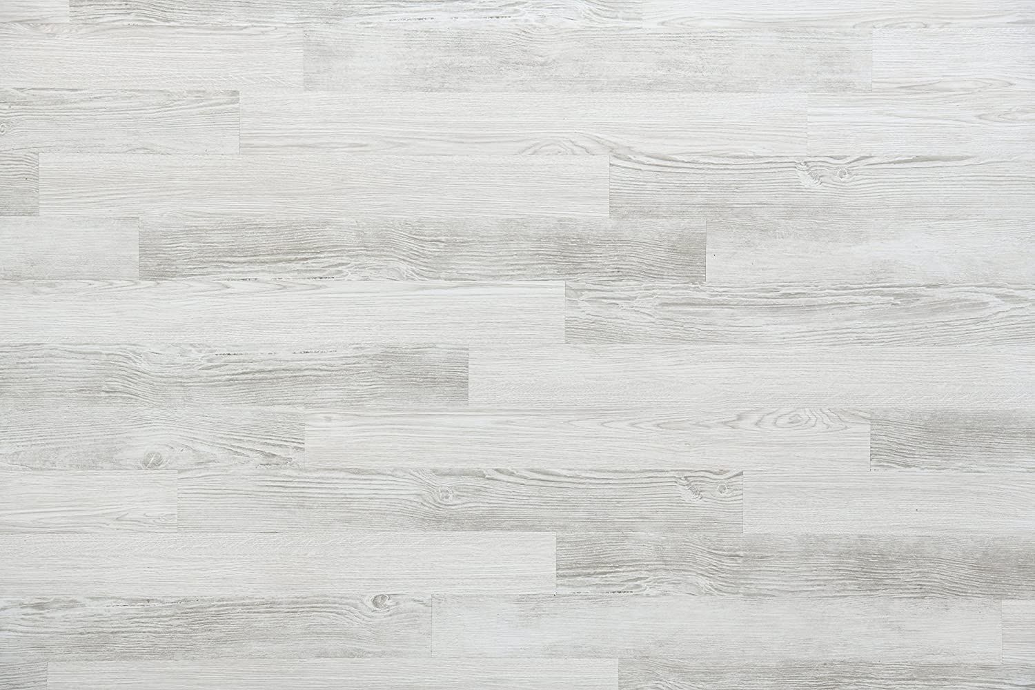 "Nance Industries E-Z Wall Peel and Press Vinyl Wall Planks 4""x36"" White Wash Barnwood Colors, 20 Planks"
