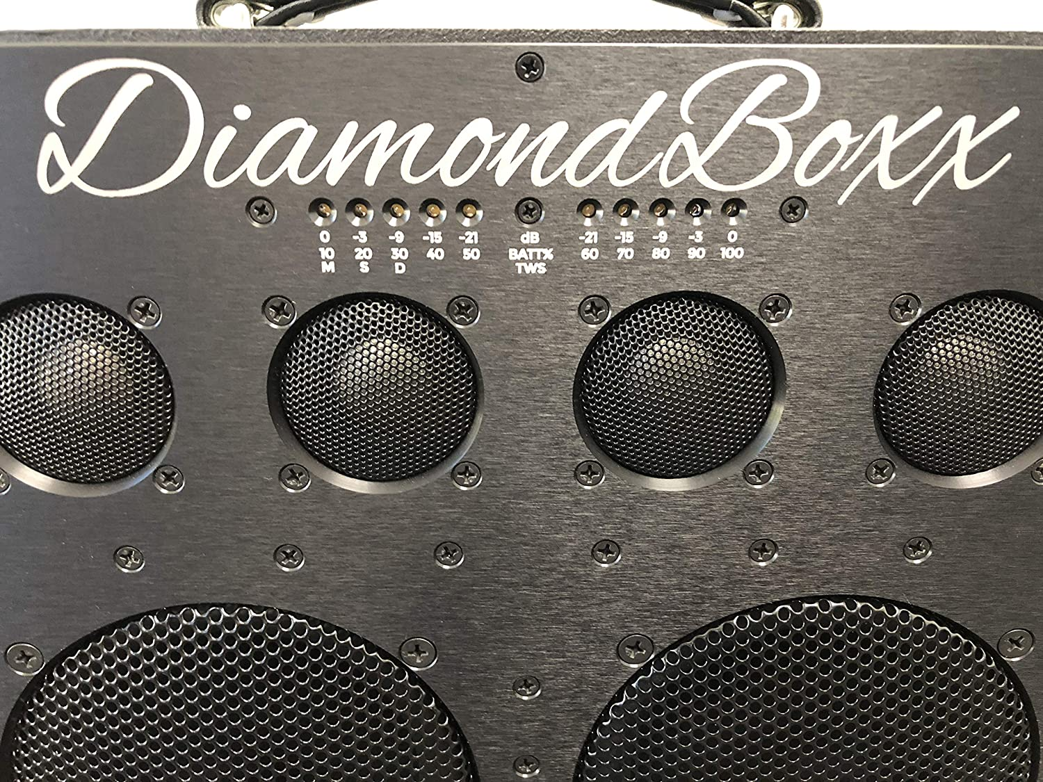Diamond Box Xl >> Diamondboxx Model Xl2 Black The Biggest Bass In Wireless Audio Portable Bluetooth Speaker Loud Clear With 1000 Watts Output 20 Hours Per Charge 12