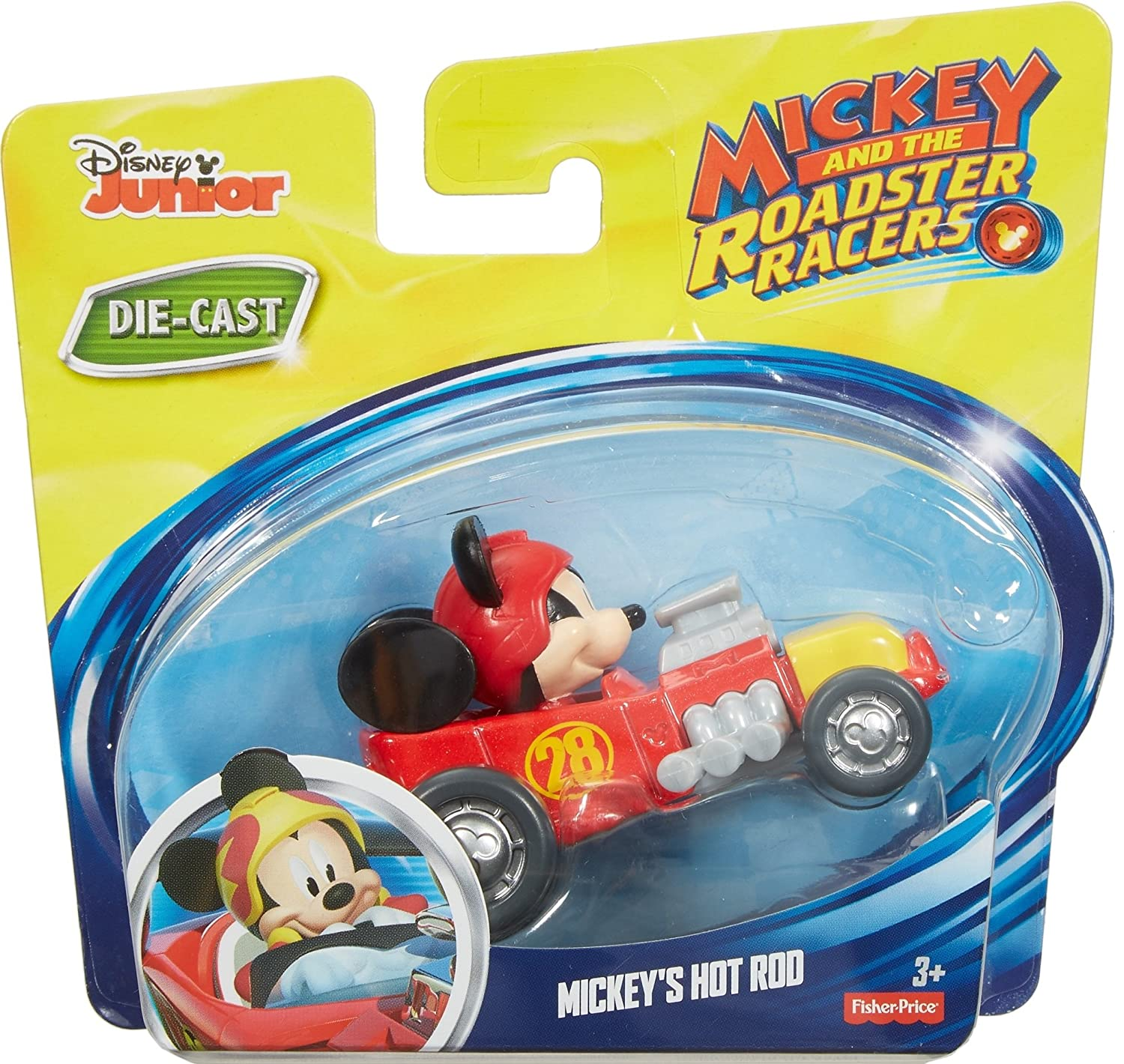 Fisher-Price Disney Mickey and the Roadster Racers - Mickeys Hot Rod Die-cast Vehicle: Amazon.es: Juguetes y juegos