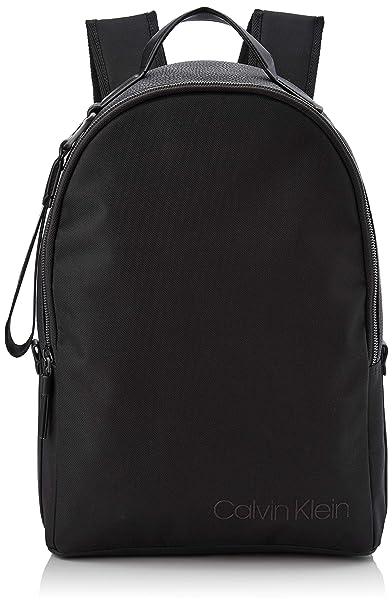 Calvin Klein - Vault Round Backpack, Mochilas Hombre, Negro (Black), 16x30x45 cm (B x H T): Amazon.es: Zapatos y complementos