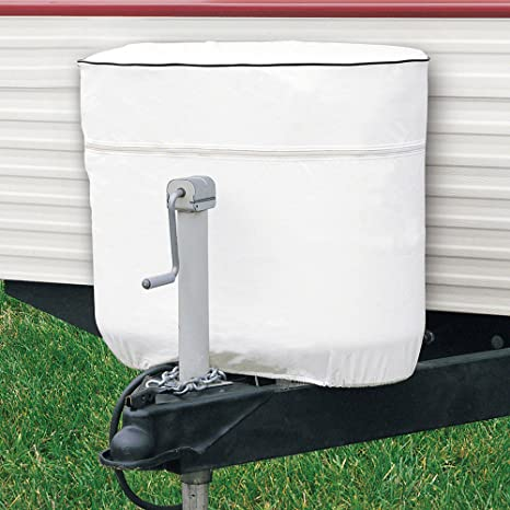 Classic Accessories RV Propane Tank Cover, White, Fits Dual 20 - 5 Gallon  Tanks
