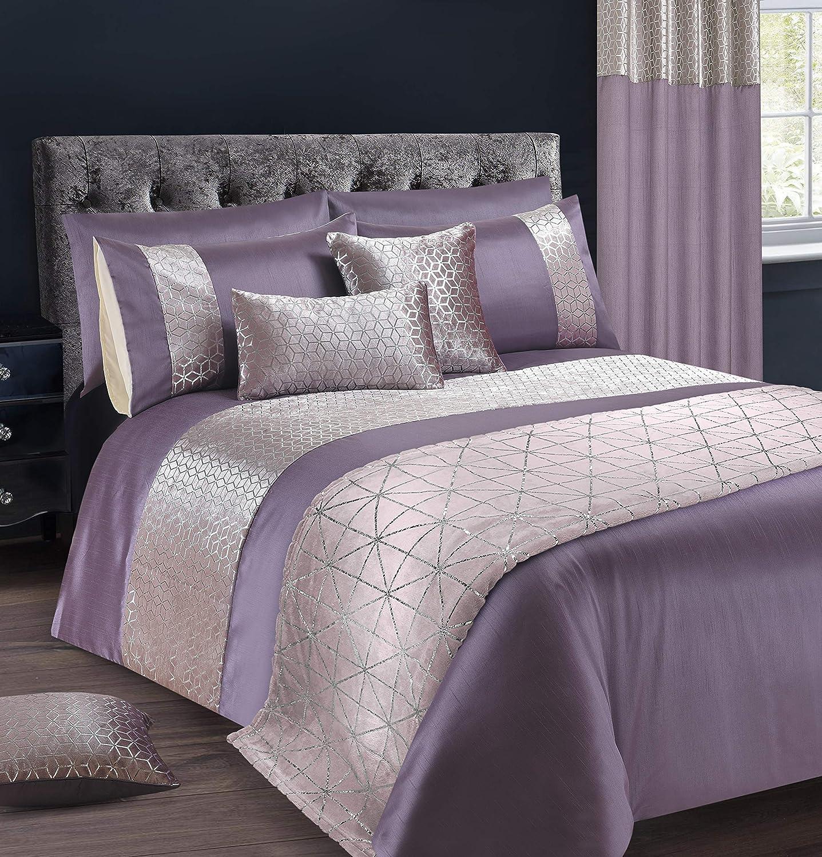 Intimates Velvet Sparkle//Bling Premium Bedding Set Duvet//Quilt Cover and Pillowcase Set Red, Double