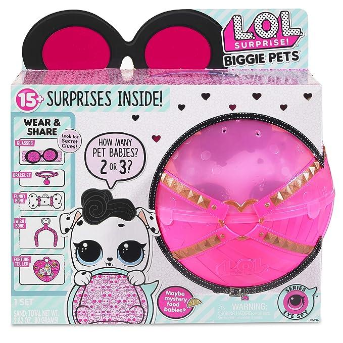 ae4f014bdf838c Amazon.com: L.O.L. Surprise! Biggie Pet Dollmation with 15+ Surprises: Toys  & Games