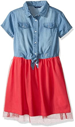 4dbf284b930 Amazon.com  GUESS Girls  Big Denim and Tulle Dress  Clothing