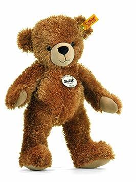 70c933a8d9 Steiff 40cm Happy Teddy Bear (Light Brown)  Amazon.co.uk  Toys   Games