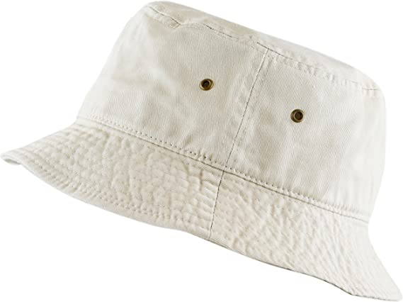 The Hat Depot 300N Unisex 100% Cotton Packable Summer Travel Bucket Beach Sun Hat