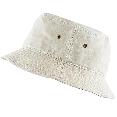 ce3ec84373c The Hat Depot 300N Unisex 100% Cotton Packable Summer Travel Bucket Hat  (L XL