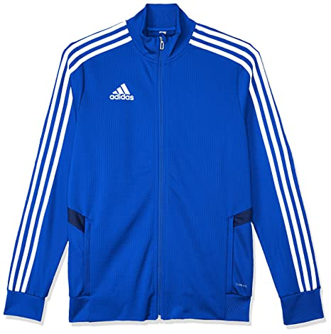 fa627318598e66 adidas Tiro 19, Giacca da Allenamento Unisex Bambini, Bold Dark Blue/White,