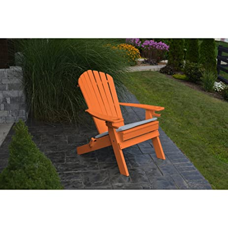 Au0026L Furniture Company Folding Recycled Plastic Adirondack Chair With  Cupholders