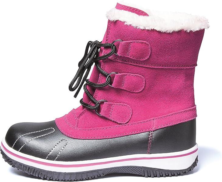 info for bd340 61c0a Mädchen Canadian Boots Snowboots Schneestiefel Winterstiefel Stiefel für  Kinder Jugendliche Gr.33-36 FUCHSIA ROT warm gefüttert