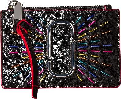 8de6d989a7f4 Marc Jacobs Women's Snapshot Confetti Top Zip Multi Wallet Black Multi One  Size
