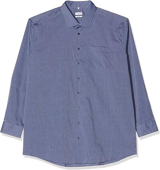 Seidensticker Regular Fit Langarm Camisa de Vestir, Azul Oscuro, 40 para Hombre: Amazon.es: Ropa y accesorios