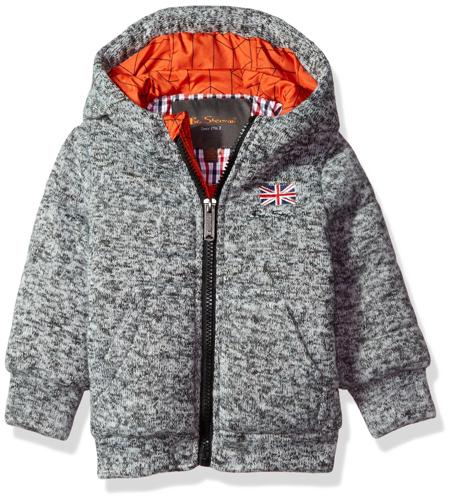 Ben Sherman Baby Boys Fashion Outerwear Jacket (More Styles Available), mid Grey, 24M by Ben Sherman