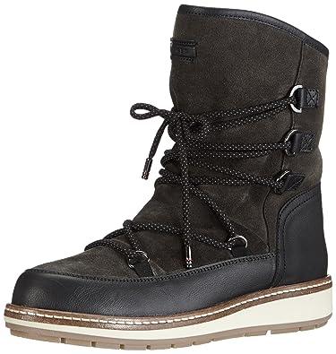 Tommy Hilfiger WOOLI 6C1W, Damen Halbschaft Mokassin Boots, Grau (Dark  Shadow Black 2d4516f041