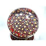 M Design Art Handcraft Glass Millefiori Paperweight PW-1128 [Kitchen]