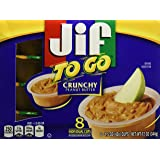 Jif To Go Crunchy Peanut Butter, 8 ct