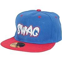 Krystle Unisex Cotton Blue/Red Swag Hip Hop Cap