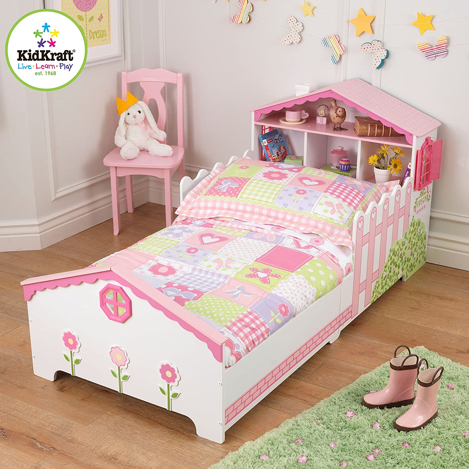 Amazon.com: KidKraft Toddler Dollhouse Cottage Bedding Set (4 Piece): Toys  U0026 Games