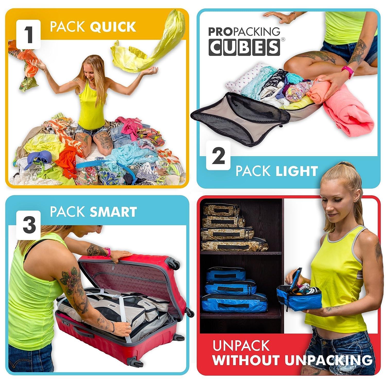 Pro Emballage Cubes pour Le Voyage Sacs pour Organiseur de Bagages Ultra L/éger Accessoires